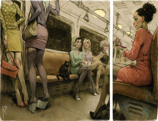 Ilustratiile controversate al unui artist rus - Poza 7