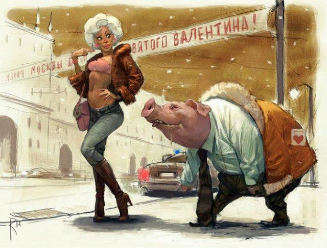 Ilustratiile controversate al unui artist rus - Poza 8