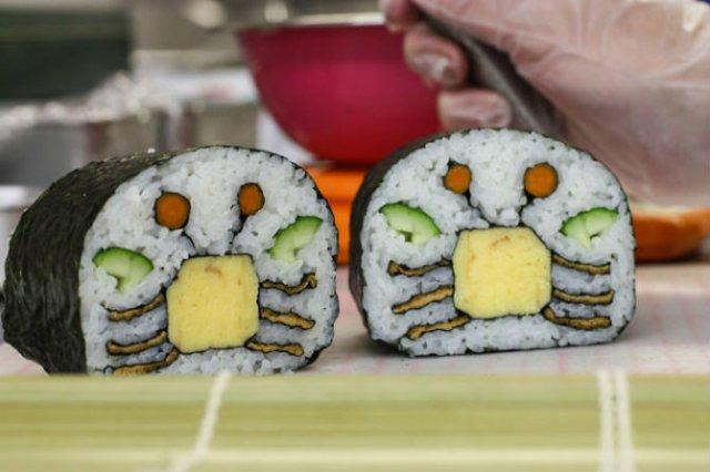 Arta cu sushi: Cele mai haioase imbucaturi cu specific japonez - Poza 12