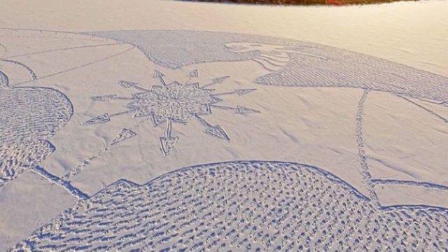 Artisul zapezii: Din mers, lasa opere de arta in urma sa