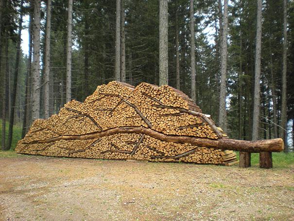 Creatii ingenioase cu lemne taiate - Poza 1