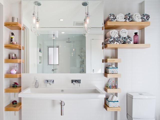 Idei de economisire a spatiului din baie - Poza 1