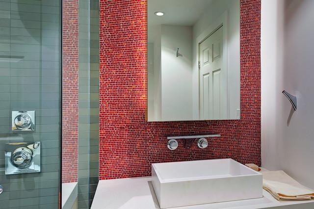 Idei geniale de amenajare a bailor cu mozaic - Poza 11