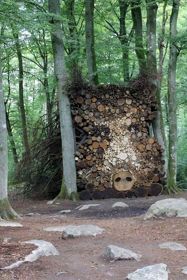Creatii ingenioase cu lemne taiate - Poza 2