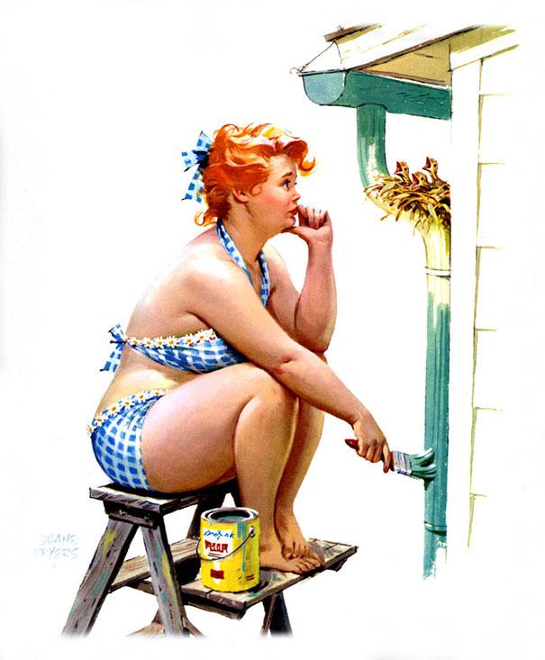 Din picanteriile anilor '50: Voluptoasa Hilda, in ilustratii simpatice - Poza 12