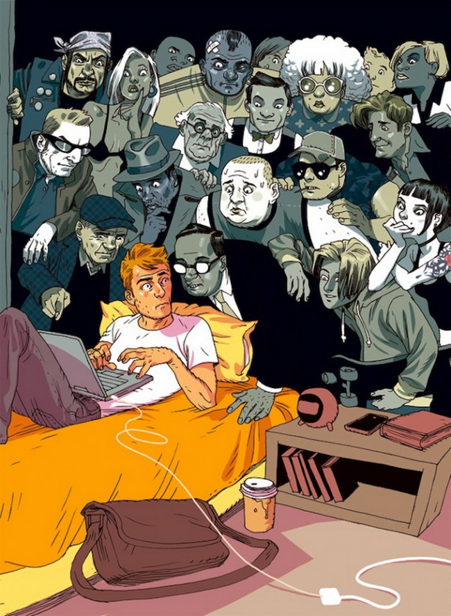 Ilustratii incisive despre tulburarile societatii actuale - Poza 2