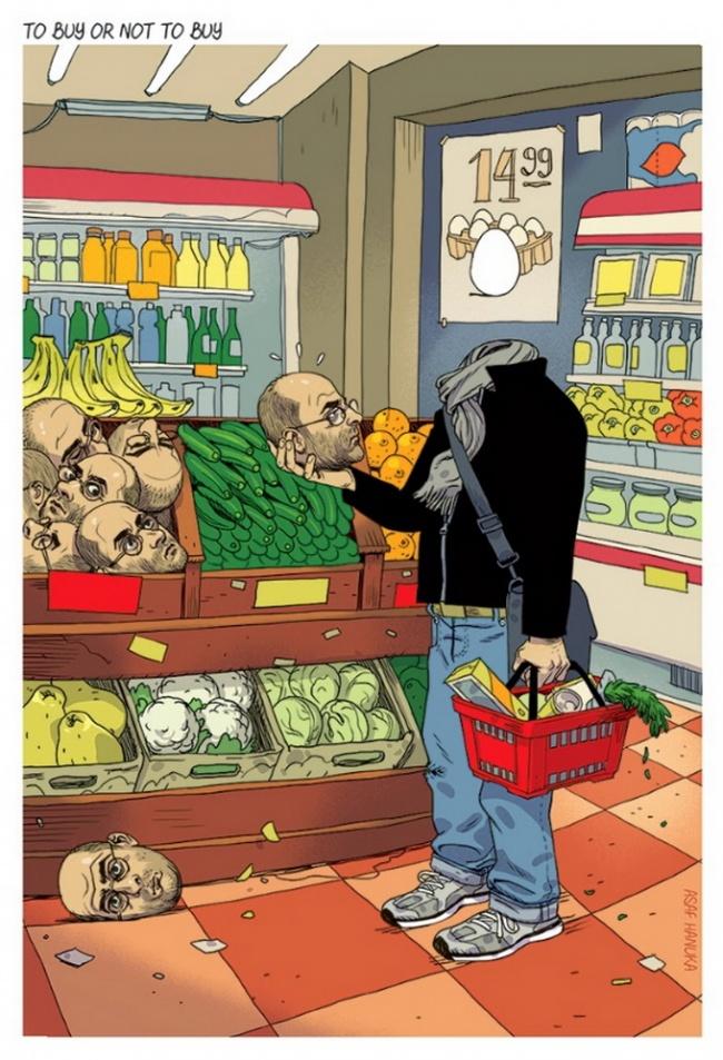 Ilustratii incisive despre tulburarile societatii actuale - Poza 6