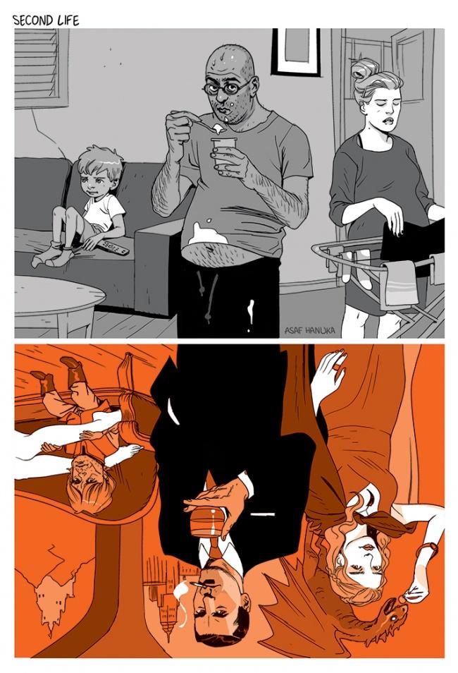 Ilustratii incisive despre tulburarile societatii actuale - Poza 8