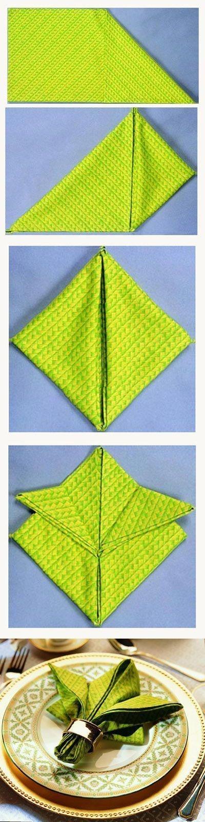 Pentru Revelion: Tehnici geniale de impaturire a servetelelor - Poza 12