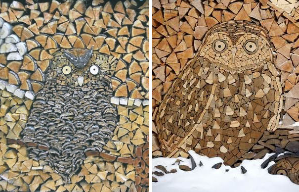 Creatii ingenioase cu lemne taiate - Poza 5