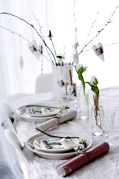 Idei de amenajare a mesei pentru cea mai romantica cina - Poza 20