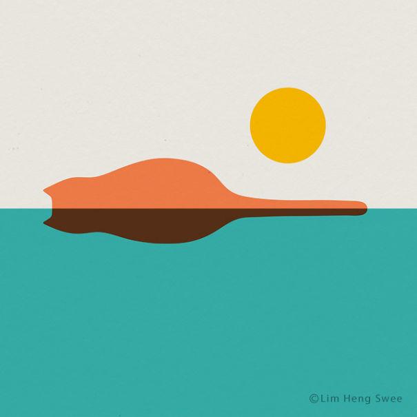 10 Ilustratii minimaliste pentru iubitorii de arta si pisici - Poza 3